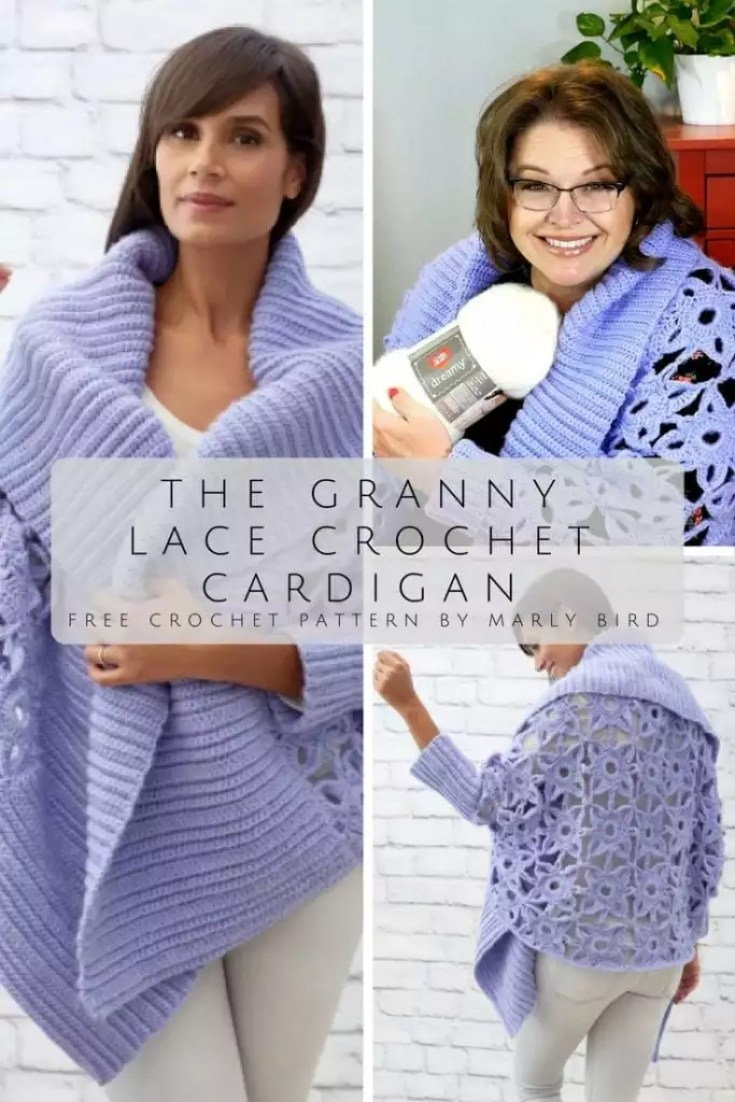 Free Pattern by Marly Bird the Granny Lace Crochet Cardigan