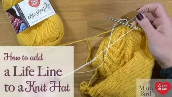 How to add a life line to your knitting-Video Tutorial with Marly Bird