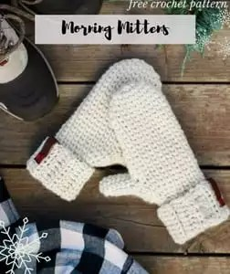 FREE Knit and Crochet Winter Fun Patterns-Morning MIttens