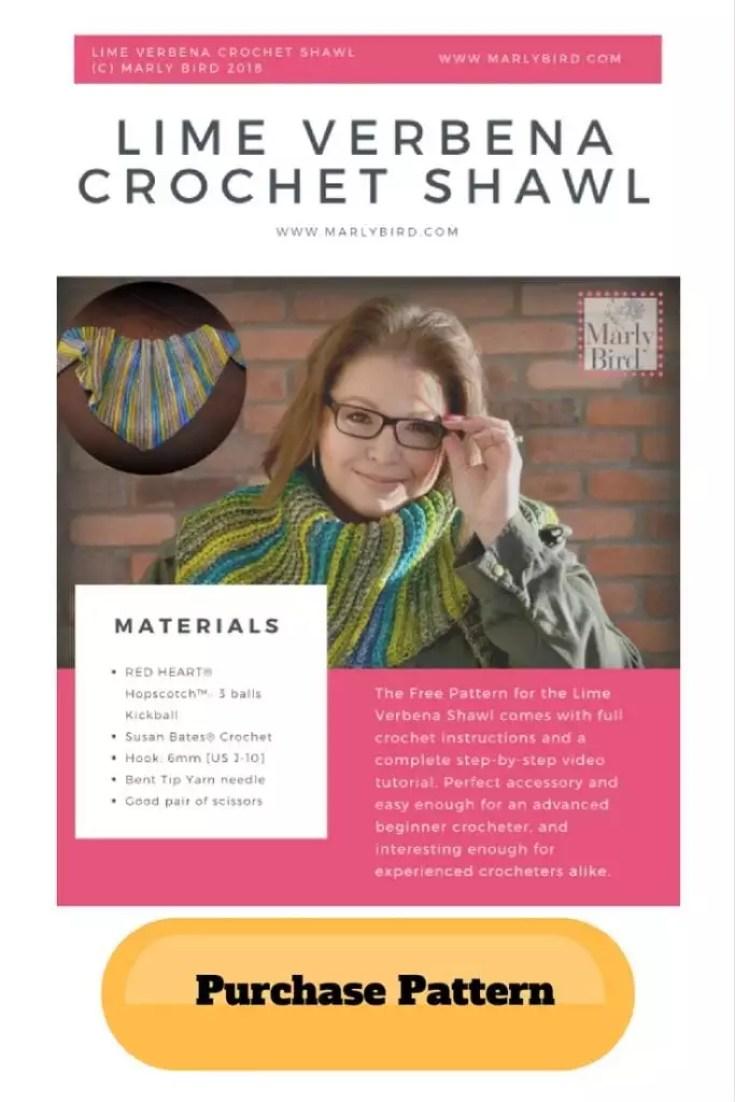 Add Free Lime Verbena Crochet Shawl Pattern by Marly Bird