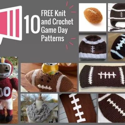 FREE Knit and Crochet Game Day Patterns