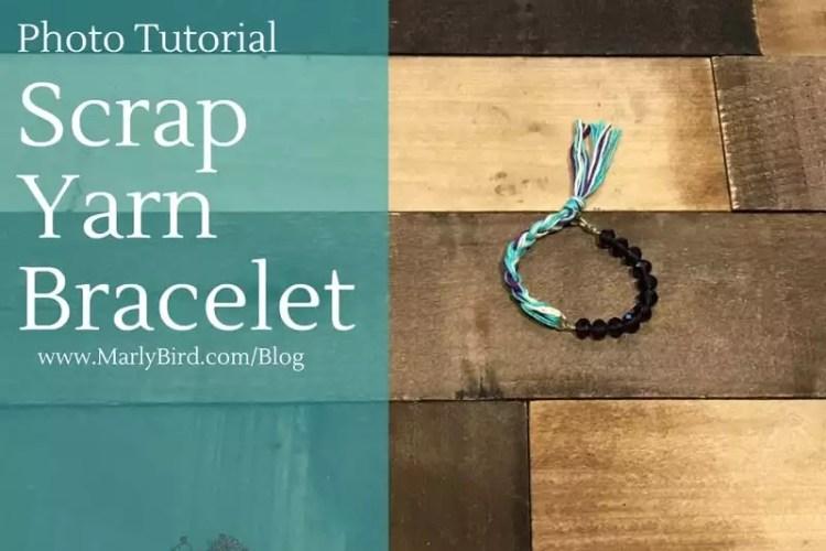 DIY Scrap Yarn Bracelet