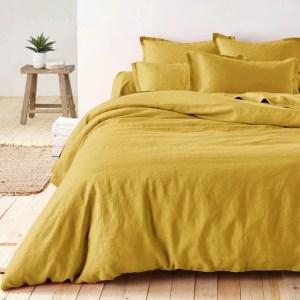 housse couette lin jaune 300x300 - Wishlist