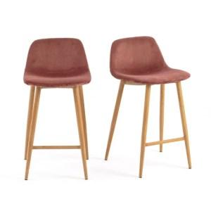 chaise haute velour scandinave bois rouille brique la redoute marmille 300x300 - Ma sélection shopping pour commencer l'année en douceur