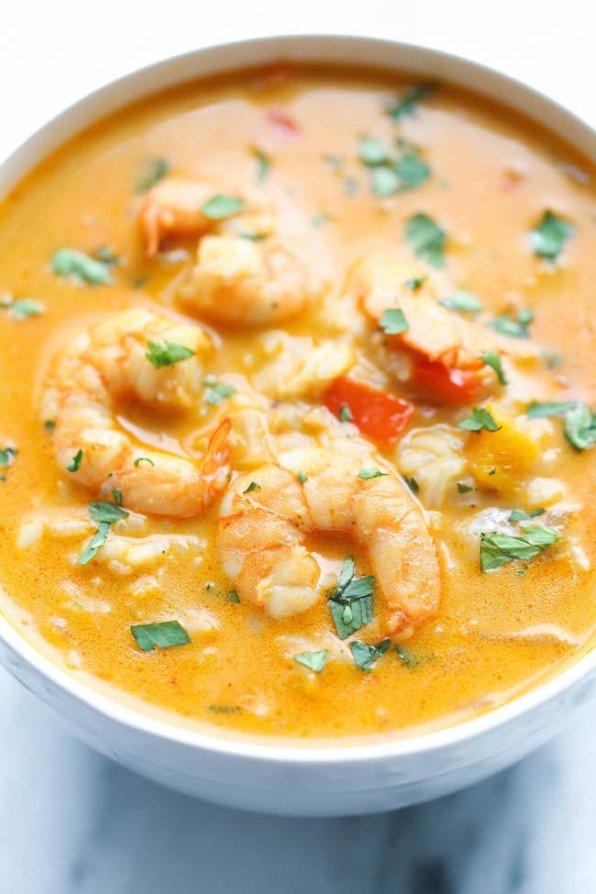 soupe de poissons et fruits de mer rapide