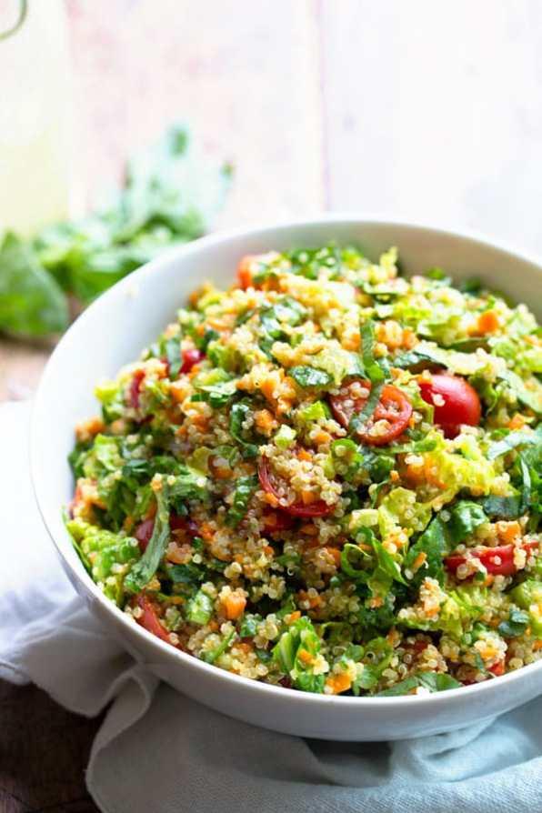 quinoa en salade et petits legumes