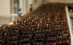 Marmite jars ready to fill.