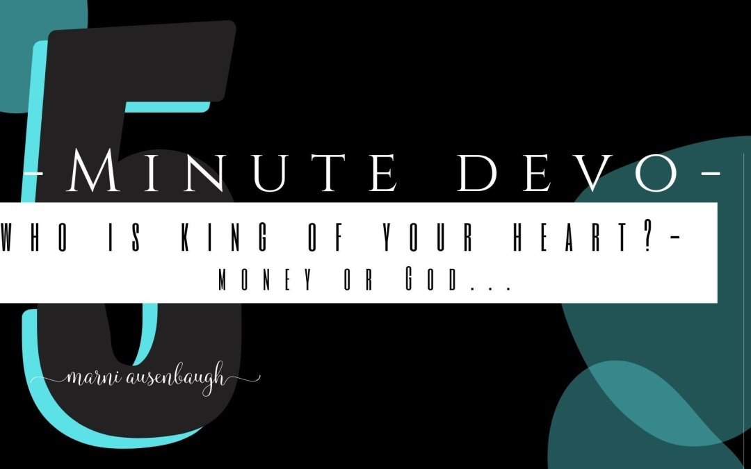 5 Minute Devo-The Parable Of The Unjust Steward