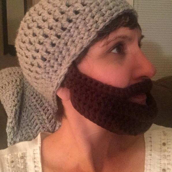 Adult Beard Crochet Hat