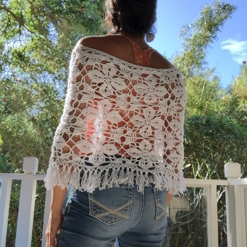 Crocheted Summer Poncho made by marni