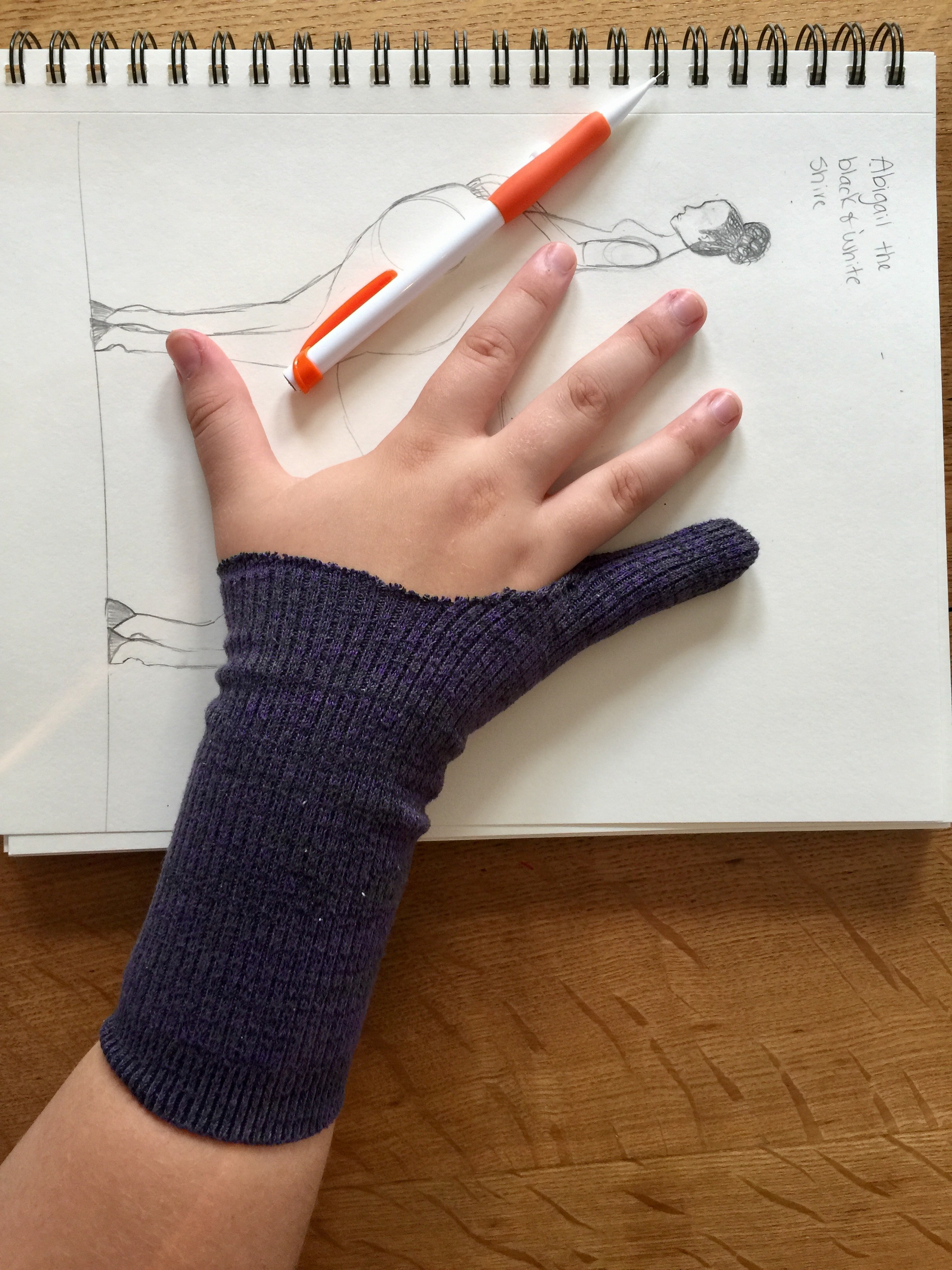 Smudge Guard Gloves from Socks