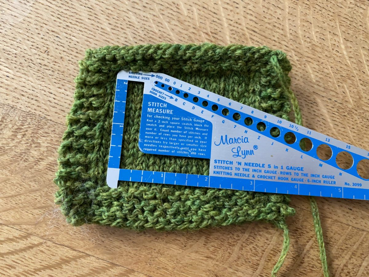 Check your knitting gauge