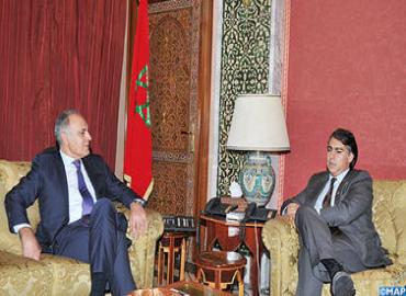 Mezouar se entrevista con Marco Enríquez-Ominami, excandidato a las elecciones presidenciales en Chile