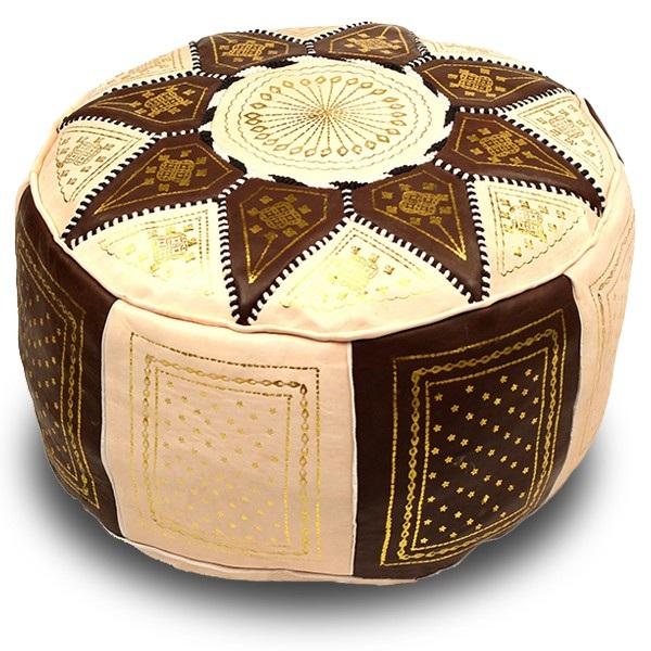 Marokkanische Sitzkissen Aus Leder