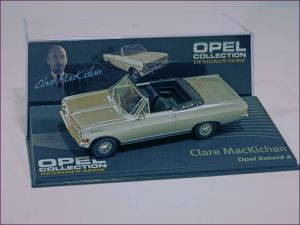 Eaglemoss 122 Opel Record A Cabriolet and Design Director Clare MacKichan