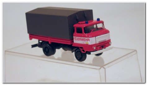 IFA L 60 Pick up truck with canvas cover NVA fire service
