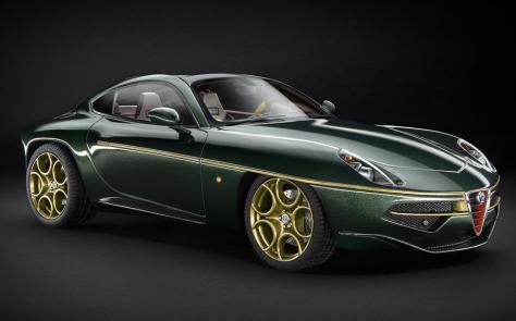 Technomodel Alfa Romeo Disco Volante 1 18 Scale Metallic Green