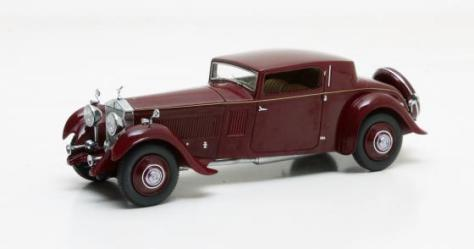 Freestone and Webb Continental Sports Coupe on 1933 RR Phantom II Chassis 42PY maroon