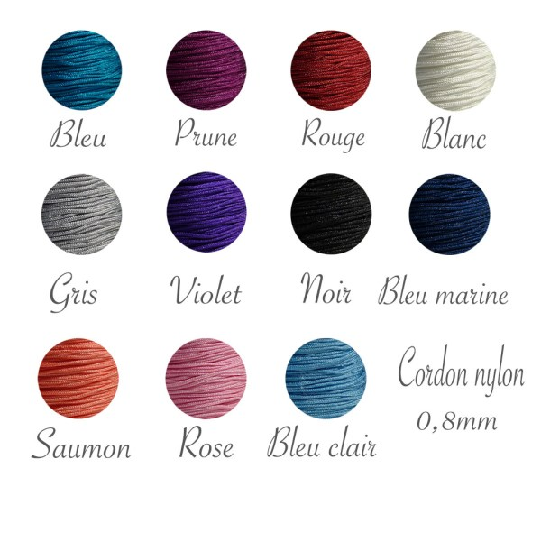 cordon nylon 0.8 mm
