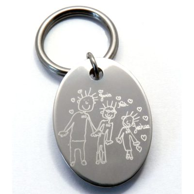 Porte-clés Louise avec dessin d'enfant