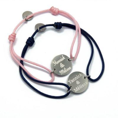 Duo de bracelets connecteurs personnalisés