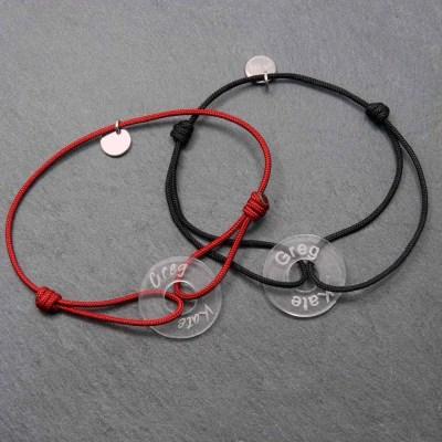 Duo de bracelets plexi personnalisés