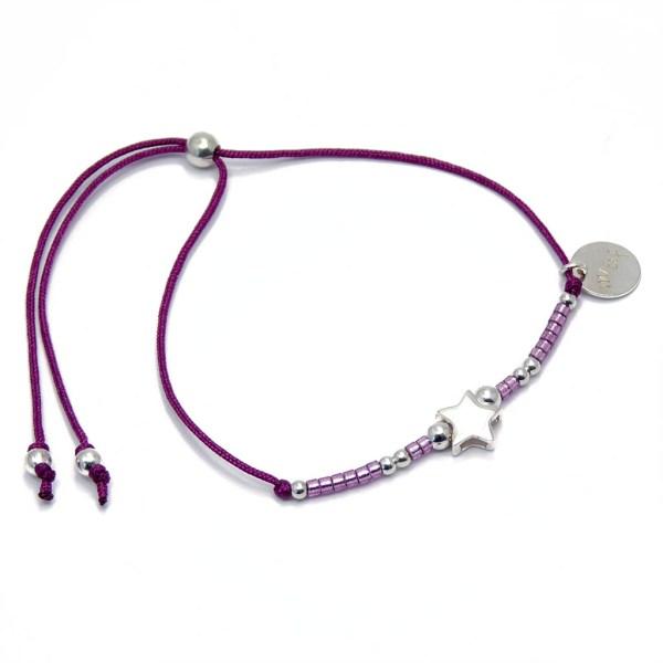 Bracelet étoile pour enfant en argent.