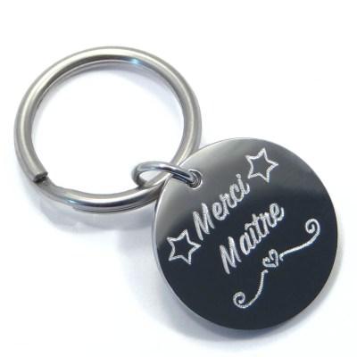 Porte clé «Merci Maître»