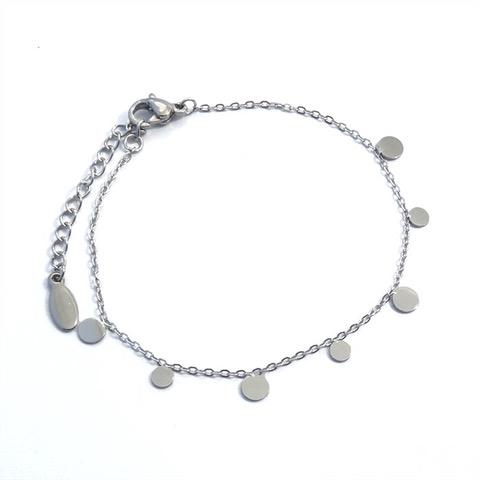 Bracelet femme ronds en acier inoxydable.