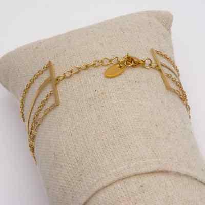 Bracelet 4 rangs soleil turquoise