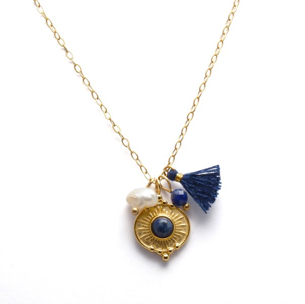 Collier pendentif Lapis-lazuli.