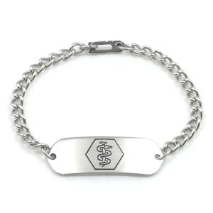 Stainless Steel Medical ID Bracelet IDB-11
