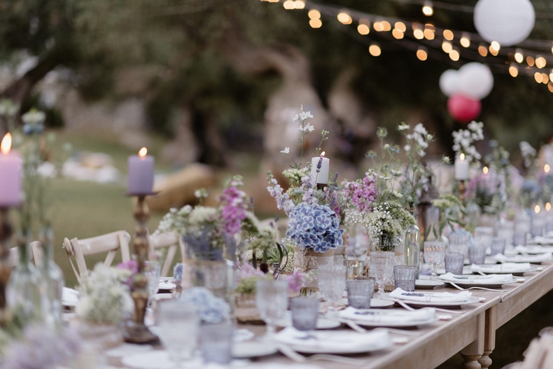Pastel eclectic long table