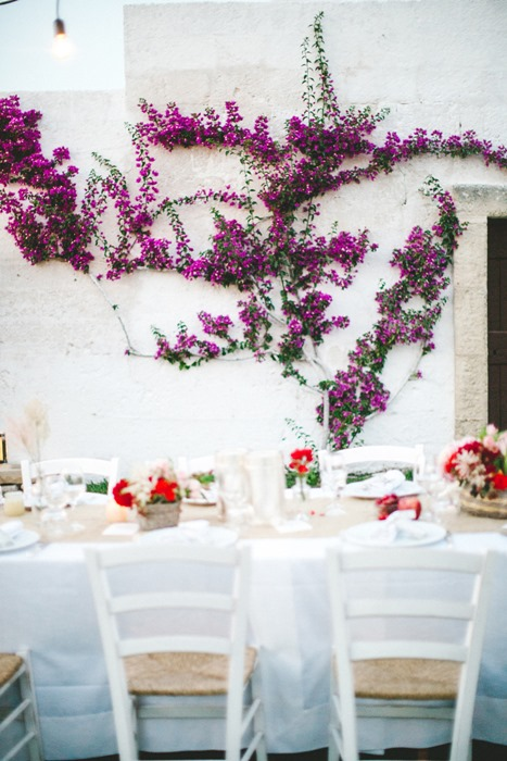 colorful wedding dinner table