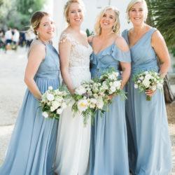 bridemaids in light blue