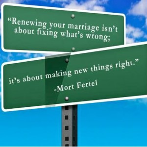 mort fertel dealing with marriage problems