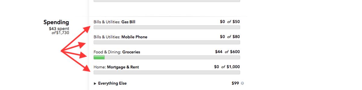 Mint budget categories