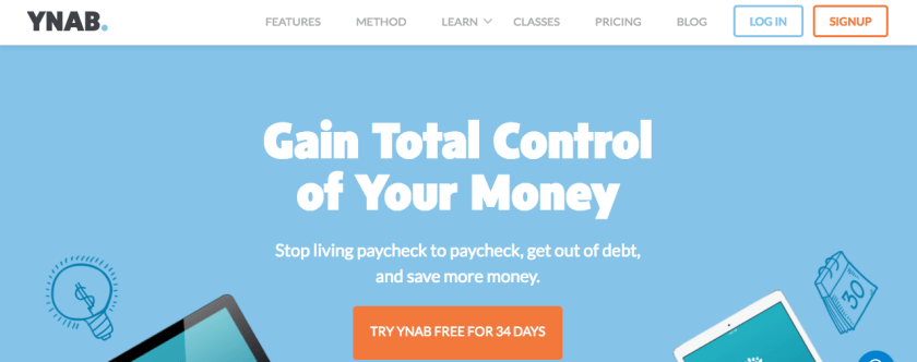 YNAB Home Page