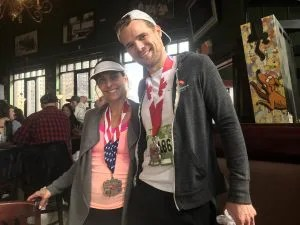 Andy and Nicole Complete Their First Marathon