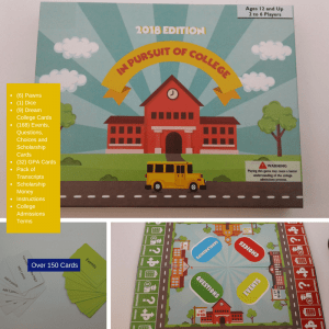 College Scholarships, Board Game, Pam Andrews