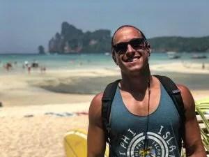 Martin Dasko on the beach