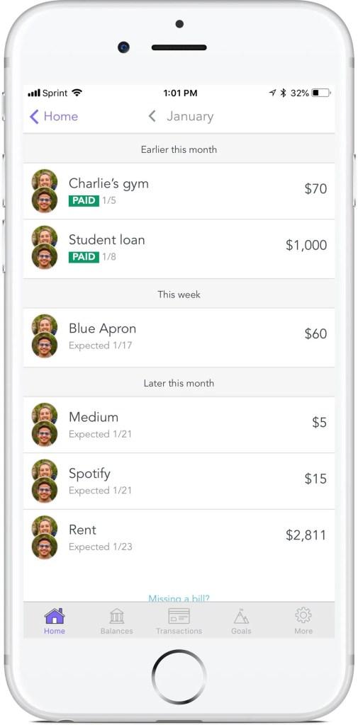 Honeyfi App Bill Feature
