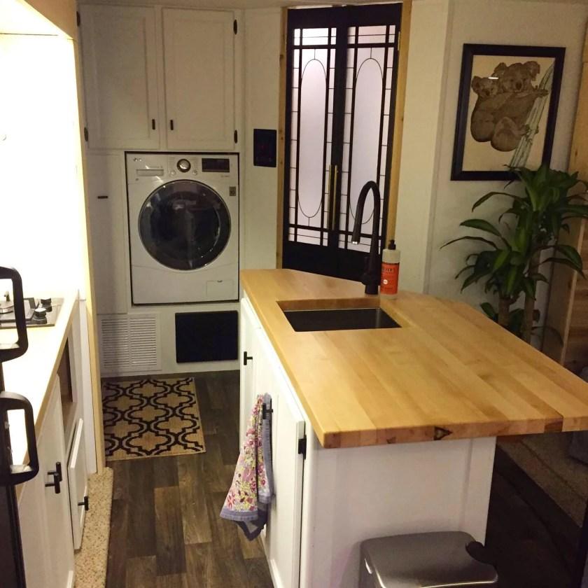 tiny home living minimalism island