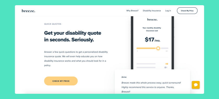 Breeze Review - Buy Online Long Term Disability Insurance