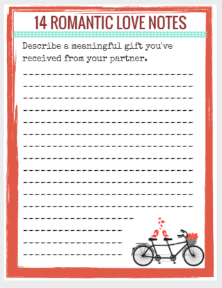 Romantic Love Notes free printable