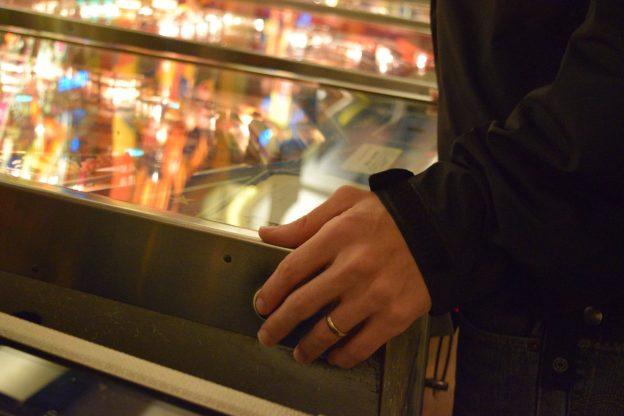 budapest pinball museum hand shot