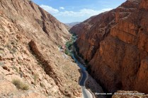 Dades canyon and valley with Dades river.