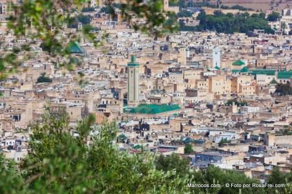 A cidade velha (medina) de Fez em Marrocos - local UNESCO Património mundial da Humanidade