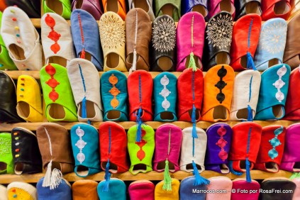 Sapatos marroquinos chamados de babouches