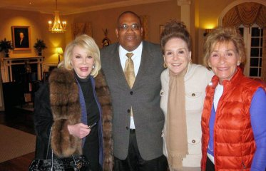 Cecil Marrow with Joan Rivers, Judge Judy, and Cindy Adams